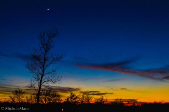 Moon, stars & sky