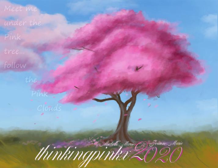 pink tree thinking pink